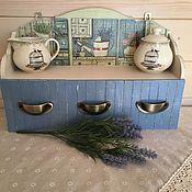 Для дома и интерьера ручной работы. Ярмарка Мастеров - ручная работа Полка с ящичками. Handmade.