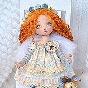 Куклы и игрушки ручной работы. Ярмарка Мастеров - ручная работа Аришка - рыжий Ангел, текстильная кукла. Handmade.