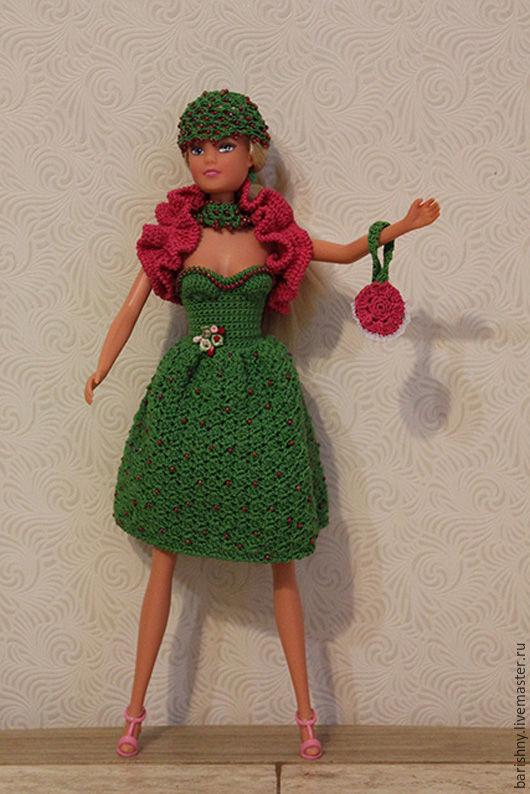 Одежда для кукол ручной работы. Ярмарка Мастеров - ручная работа. Купить Летняя зелень для Барби. Handmade. Зеленый, розовый