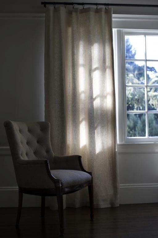"""Текстиль, ковры ручной работы. Ярмарка Мастеров - ручная работа. Купить Шторы льняные """"Этюд"""". Handmade. Шторы, вышивка на шторах"""