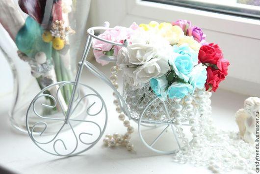 Свадебные аксессуары ручной работы. Ярмарка Мастеров - ручная работа. Купить Велосипед интерьерный свадебный. Handmade. Белый, велики рулят