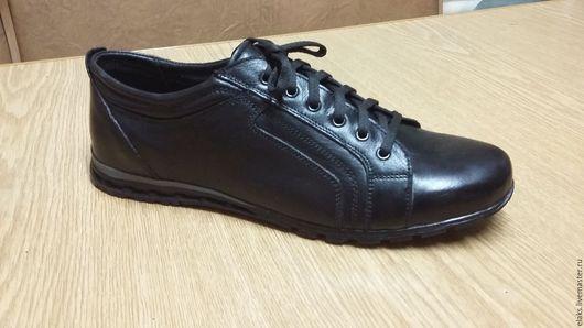 Обувь ручной работы. Ярмарка Мастеров - ручная работа. Купить Кроссовки мужские. Handmade. Черный, обувь ручной работы, кожа