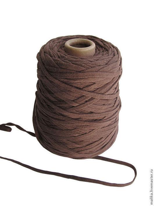 Ленточный широкий хлопок (шнурок) для вязания на толстых спицах или плетения макраме. Malika. Ярмарка Мастеров.