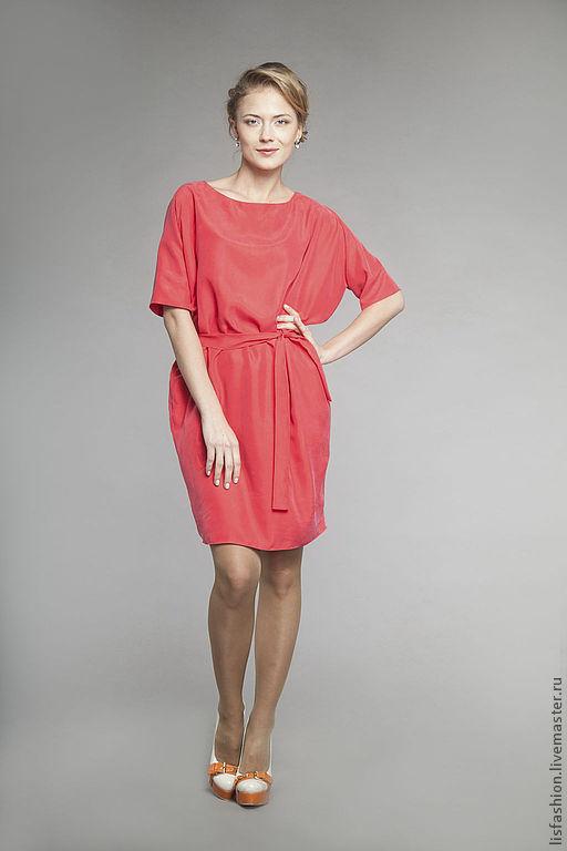 Платья ручной работы. Ярмарка Мастеров - ручная работа. Купить Платье Ингрид 3180305. Handmade. Коралловый, шелковое платье