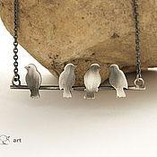 """Украшения ручной работы. Ярмарка Мастеров - ручная работа Колье из серебра """"Посиделки"""" (серебро). Handmade."""