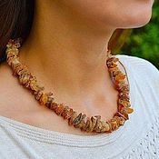 Украшения handmade. Livemaster - original item Healing beads from raw amber, natural natural amber. Handmade.