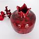 Статуэтки ручной работы. Керамическая ваза Гранат. NIBOQUA авторская керамика. Интернет-магазин Ярмарка Мастеров. Гранат керамический