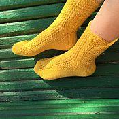 """Вязаные носочки """"павлиний хвост"""""""