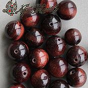 Материалы для творчества handmade. Livemaster - original item Bullseye, 10 mm smooth beads (natural stone). Handmade.