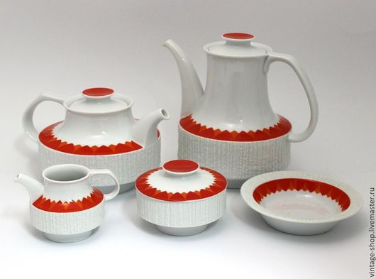 """Винтажная посуда. Ярмарка Мастеров - ручная работа. Купить Cервиз чайный, Германия """"Thomas"""" из серии """"Arkta"""", 1960-70-е г.г.. Handmade."""