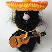 """Куклы и игрушки ручной работы. Ярмарка Мастеров - ручная работа Кот вязаный """"Мексиканец"""". Handmade."""