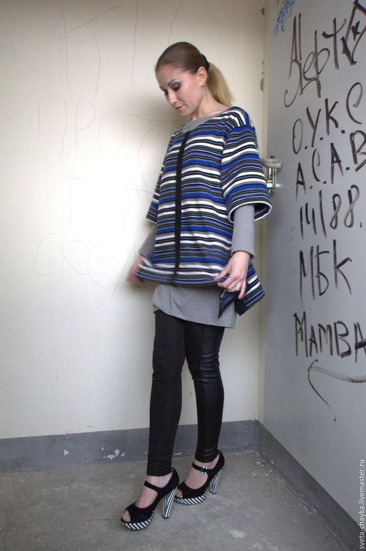 Кофты и свитера ручной работы. Ярмарка Мастеров - ручная работа. Купить Свитшот полушерстяной. Handmade. Комбинированный, свитшот, кофта, минимализм