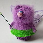 Куклы и игрушки ручной работы. Ярмарка Мастеров - ручная работа КотоФея вязаная игрушка кошка волшебница мягкая игрушка. Handmade.