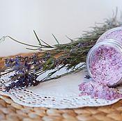 Косметика ручной работы. Ярмарка Мастеров - ручная работа Соль морская для ванны Лаванда с морской солью лавандовый. Handmade.