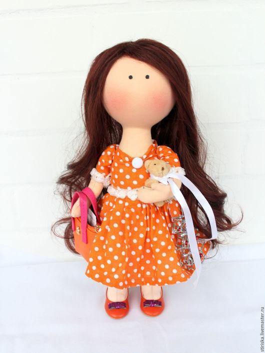 Коллекционные куклы ручной работы. Ярмарка Мастеров - ручная работа. Купить Кукла ручной работы. Handmade. Оранжевый, кукла интерьерная