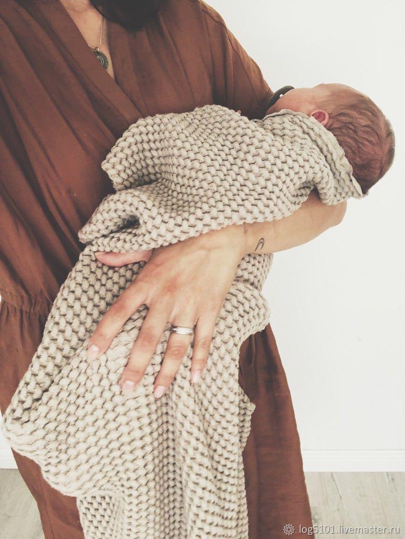Льняное детское одеяло / Мягкое полотенце для детей, Комплект для выписки, Москва,  Фото №1