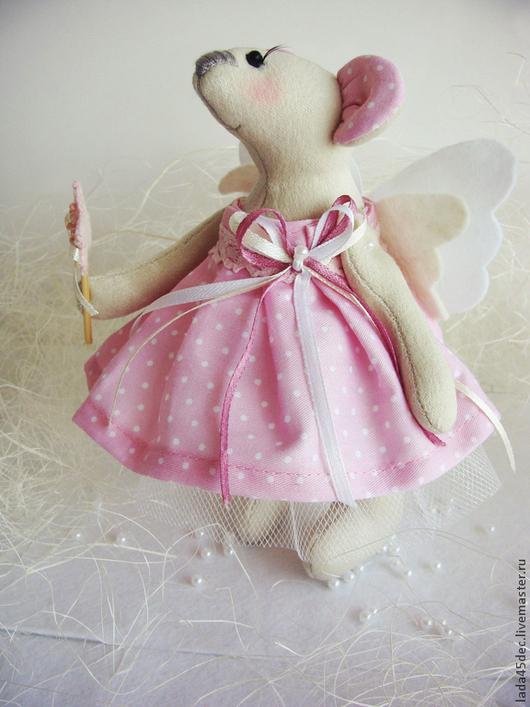 Куклы Тильды ручной работы. Ярмарка Мастеров - ручная работа. Купить Мышки-феечки. Handmade. Бежевый, мышь игрушка