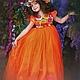 """Одежда для девочек, ручной работы. Ярмарка Мастеров - ручная работа. Купить Пышное платье """"Оранжевое счастье"""". Handmade. Платье, yansons"""