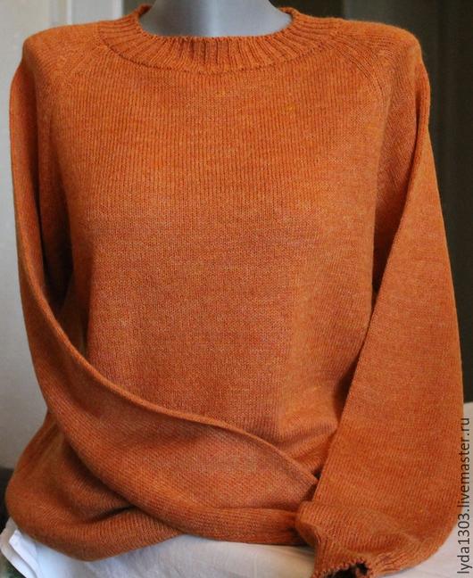 Кофты и свитера ручной работы. Ярмарка Мастеров - ручная работа. Купить Пуловер цвета ТЫКВЫ из альпаки. Handmade. Пуловер