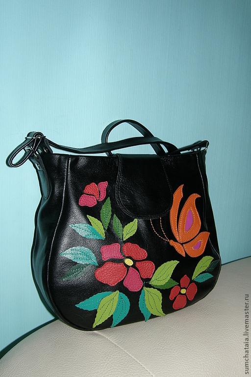 The bag 'Flying butterfly' black, Classic Bag, Yaroslavl,  Фото №1