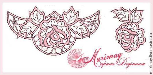 """Вышивка ручной работы. Ярмарка Мастеров - ручная работа. Купить Дизайны машинной вышивки """"Чайная роза"""". Handmade. Дизайн, бохо"""