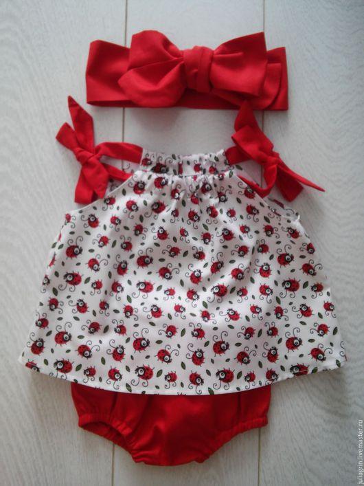 Одежда для девочек, ручной работы. Ярмарка Мастеров - ручная работа. Купить туника и трусики. Handmade. Блумеры, нарядное платье, нарядное