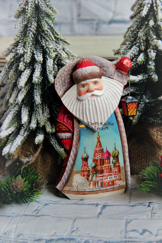 """Дед мороз """"Москва"""" № 80 (деревянный расписной), Украшения, Москва, Фото №1"""