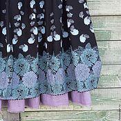 Одежда ручной работы. Ярмарка Мастеров - ручная работа №174.2 Юбка-баллон льняная. Handmade.
