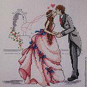 """Свадебный салон ручной работы. Ярмарка Мастеров - ручная работа Вышивка """"Свадьба"""". Handmade."""