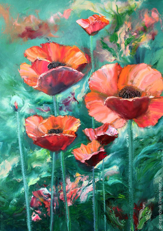 Oil painting on canvas flowers bouquet poppies shop online on buy oil painting on canvas flowers bouquet poppies mightylinksfo