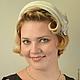 Шляпы ручной работы. Ярмарка Мастеров - ручная работа. Купить Белая шляпка накладка из велюра. Handmade. Белый, маленькая шляпка
