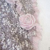 """Аксессуары ручной работы. Ярмарка Мастеров - ручная работа Шаль """"Фламинго"""". Handmade."""