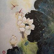 Картины и панно ручной работы. Ярмарка Мастеров - ручная работа В тихой заводи (китайская живопись). Handmade.