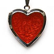 Украшения handmade. Livemaster - original item Medallion Heart crimson color. Handmade.
