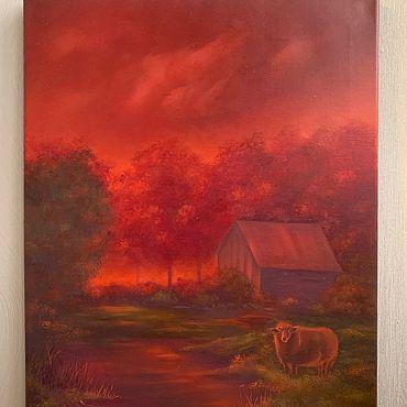 Картины и панно ручной работы. Ярмарка Мастеров - ручная работа «Предчувствие» картина маслом. Handmade.