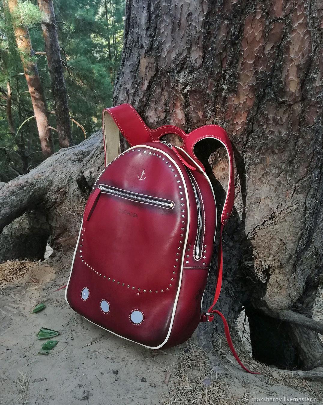 Handmade leather rucksack art NAUTICAL, Backpacks, Moscow,  Фото №1