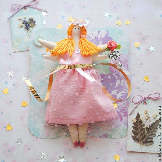 Куклы Тильды ручной работы. Ярмарка Мастеров - ручная работа. Купить Тильда Ангелочек в нежно-розовом (16 см). Handmade.