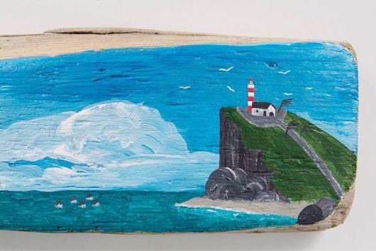 Пейзаж ручной работы. Ярмарка Мастеров - ручная работа. Купить Песнь моря. Handmade. Панно, песнь моря, Декор