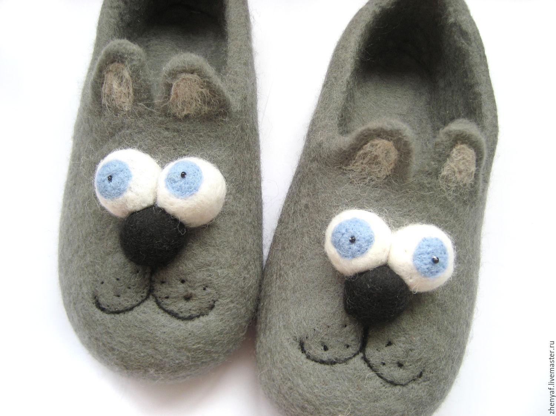Обувь ручной работы. Ярмарка Мастеров - ручная работа. Купить тапки валяные. Handmade. Подарок, домашние тапки, войлочные тапки
