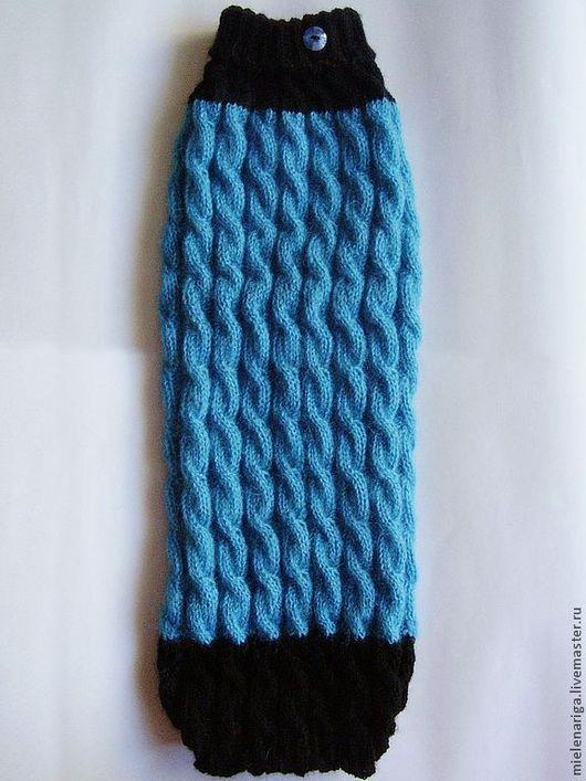 Одежда для кошек, ручной работы. Ярмарка Мастеров - ручная работа. Купить Сине-чёрный свитер для кошки или собаки. Handmade.