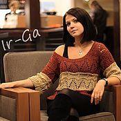 """Одежда ручной работы. Ярмарка Мастеров - ручная работа Ажурный пуловер """"Марокко"""". Handmade."""