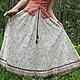 Длинная льняная юбка ручной работы, юбка в стиле бохо, летняя юбка, платья и юбки ручной работы, автор Юлия Льняная сказка