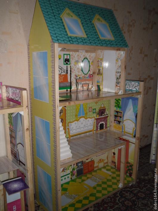 Кукольный дом ручной работы. Ярмарка Мастеров - ручная работа. Купить кукольный домик. Handmade. Фуксия, ХДФ