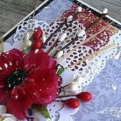 """Свадебный салон ручной работы. Ярмарка Мастеров - ручная работа Открытка свадебная """"Красный мак"""". Handmade."""