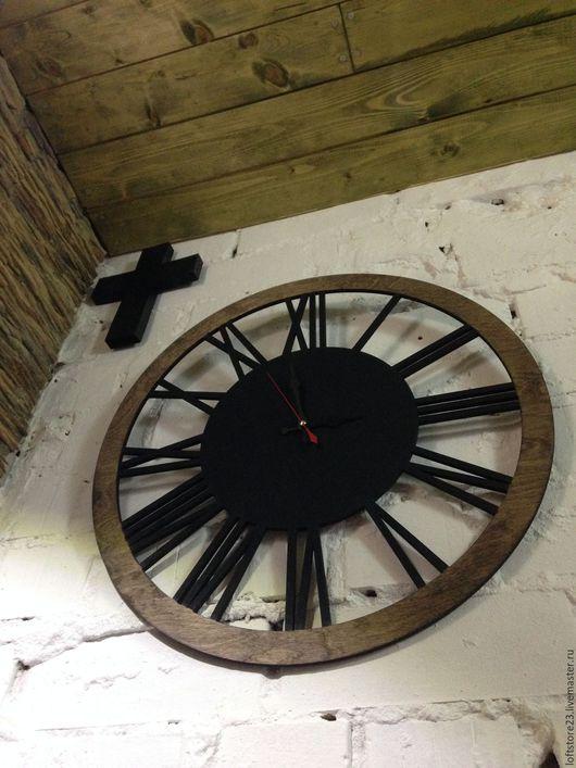 Часы для дома ручной работы. Ярмарка Мастеров - ручная работа. Купить Часы LOFT WATCH. Handmade. Коричневый, настенные часы