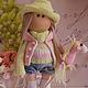 Коллекционные куклы ручной работы. Текстильная куколка- малышка Леся. Юлия Соколова. Ярмарка Мастеров. Кукла в подарок, Джинсовая ткань