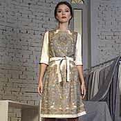 Одежда handmade. Livemaster - original item Dress pavloposad scarf. Handmade.