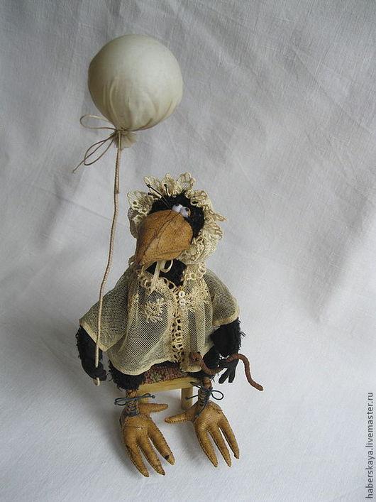 """Игрушки животные, ручной работы. Ярмарка Мастеров - ручная работа. Купить Ворона """"Научи меня летать...."""" текстильная. Handmade."""