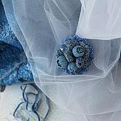 Украшения handmade. Livemaster - original item Brooch Blue Haze. Handmade.