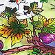 """Часы для дома ручной работы. Ярмарка Мастеров - ручная работа. Купить Часы витражные """"Виноградные улитки"""". Handmade. Витраж, листья"""